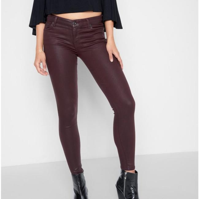 7 For All Mankind Burgundy/Red Coated Super Skinny Jeans Size 25 (2, XS) 7 For All Mankind Burgundy/Red Coated Super Skinny Jeans Size 25 (2, XS) Image 8