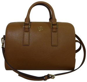 Tory Burch Saffiano Leather Robinson Handbag Satchel in Tan/Brown