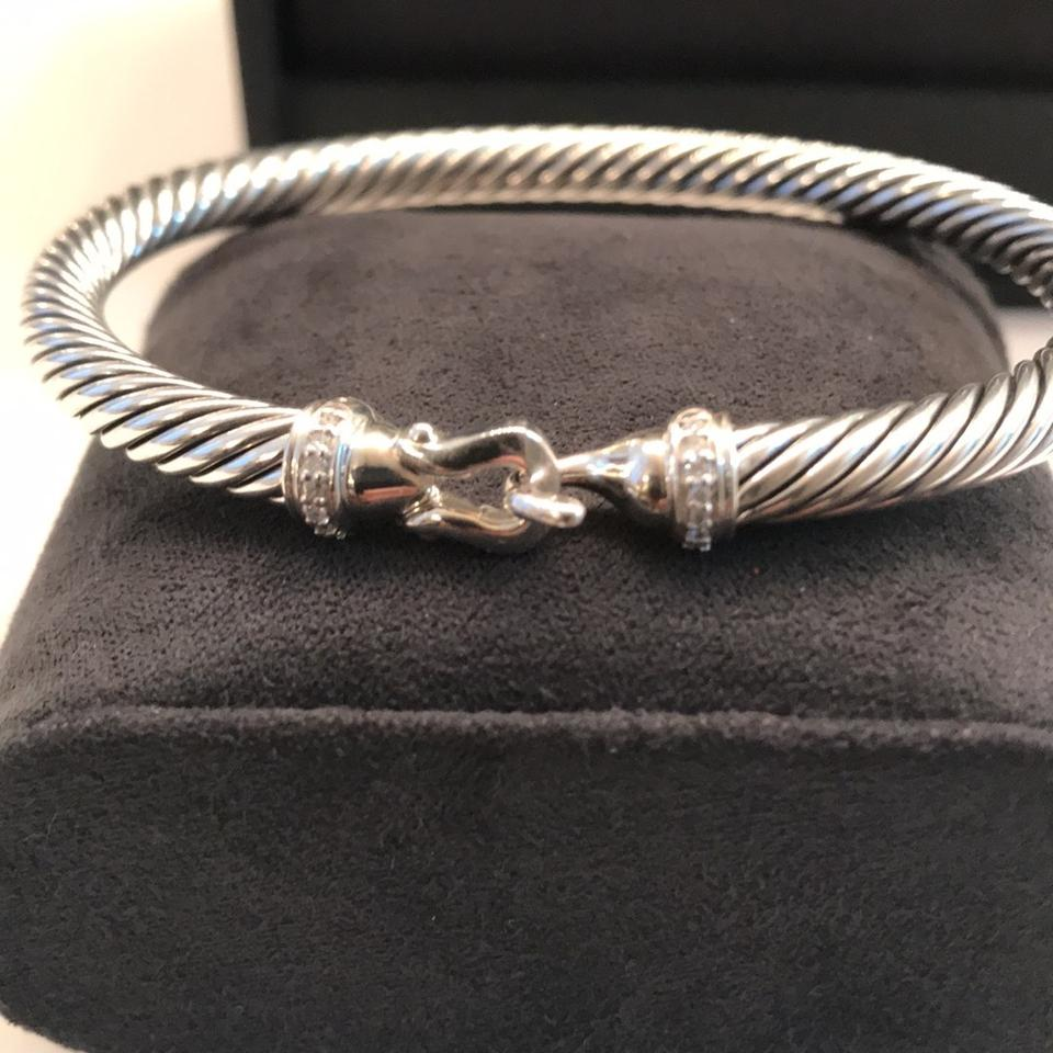 David yurman cable buckle with diamonds bracelet tradesy for David yurman like bracelets