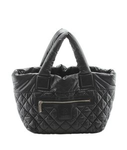 7a553b0eddd6c2 Added to Shopping Bag. Chanel Nylon Tote in Black. Chanel Cocoon A48611 Coco  ...
