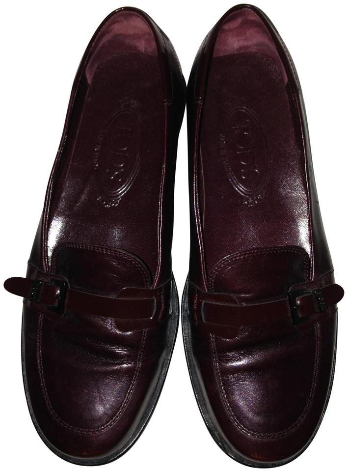 c6b83e9f306 Tod s Cordovan Vintage Driver Loafer Leather and Patent Flats Size ...