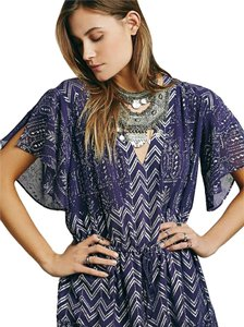Free People Metallic Print Shift Dress