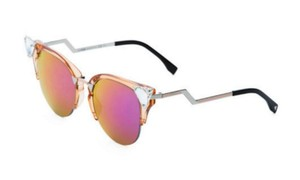 Fendi Fendi Peach Iridia Cat Eye Gold Crystal 0041/S Sunglasses