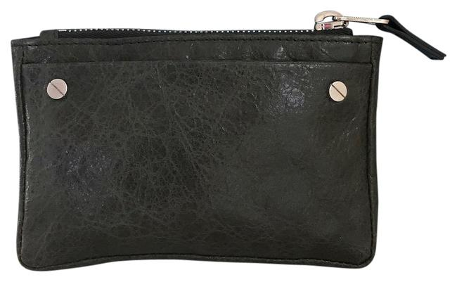 Item - Very Dark Green Distressed Leather Coin Purse Wallet