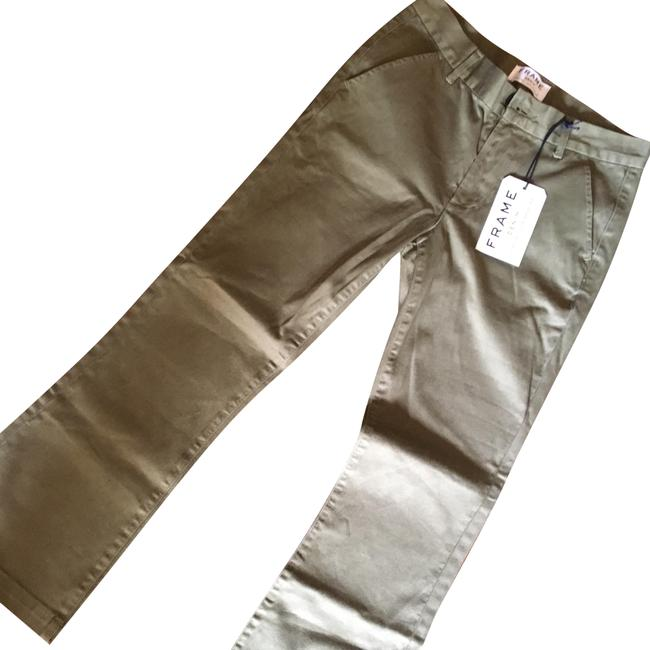 Item - Olive Le Crop Mini Boot Chino Pants Size 4 (S, 27)