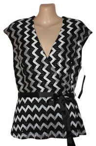Onyx Nite Formalwear Top Black & White