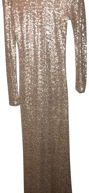 Item - Gold Sequin Gown Long Formal Dress Size 4 (S)