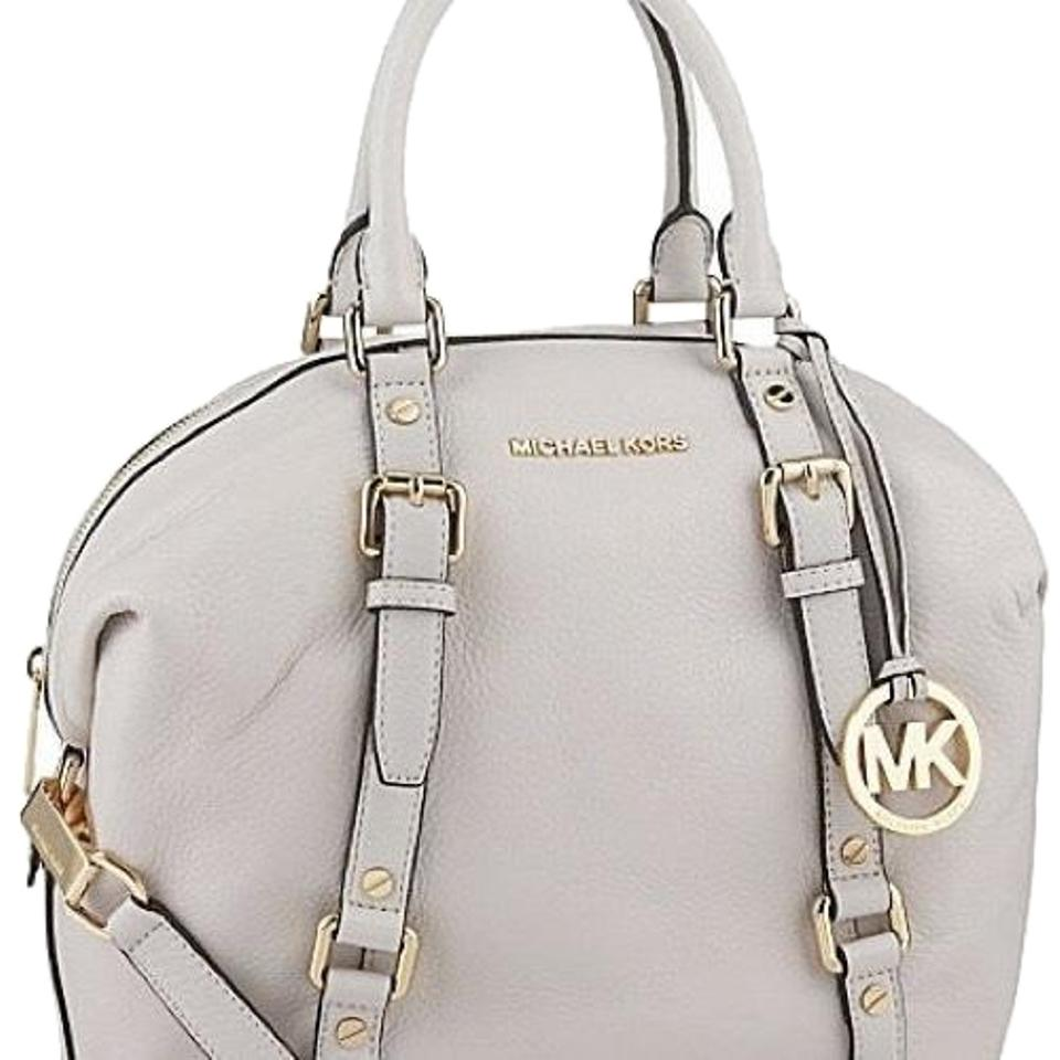 f7a76d67799a Michael Kors Women's Natural Large Bedford Bowler White/ Vanilla Lambskin  Leather Cross Body Bag