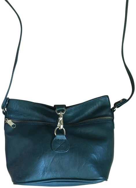 Item - Forest Green Gold Faux Leather Cross Body Bag