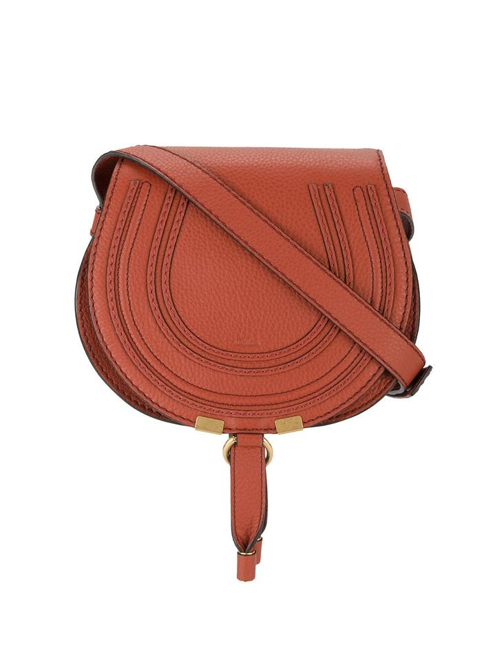 6fd5b497a9 Chloé Marcie Small Terracotta Red Leather Cross Body Bag - Tradesy