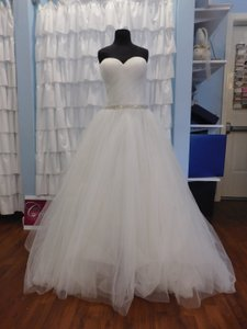 Christina Wu Ivory/Silver Tulle 15632 Traditional Wedding Dress Size 16 (XL, Plus 0x)