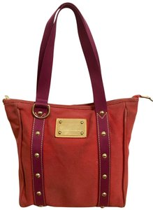 Louis Vuitton Tote in Rouge and Purple