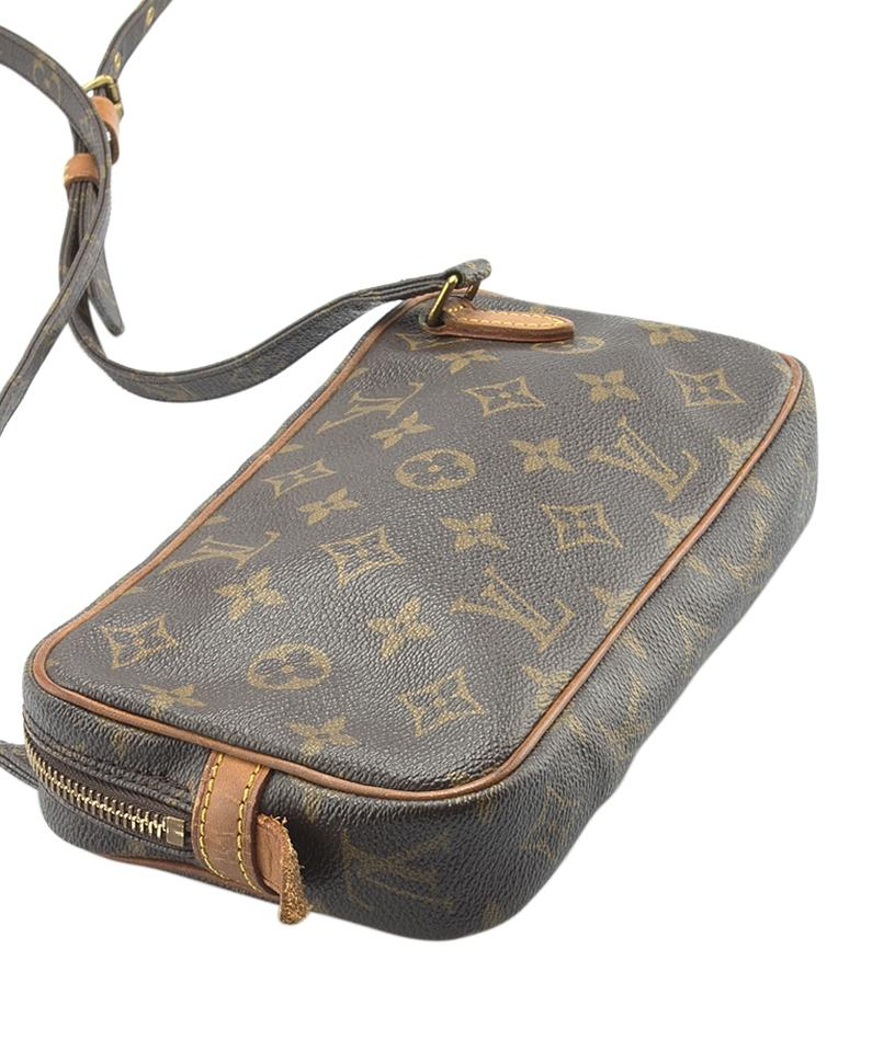 3a859a79708a Louis Vuitton Marly Pochette M51828 Bandouliere Monogram (143686) Brown  Coated Canvas Cross Body Bag