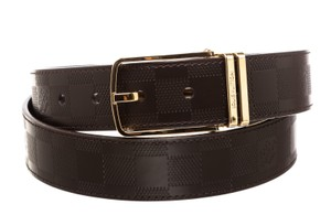 Louis Vuitton Louis Vuitton Brown Leather Damier Infini Belt (Size 100/40) 479709