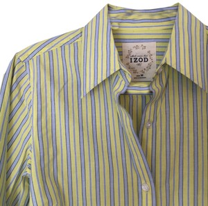 Izod Top Yellow & Blue Striped