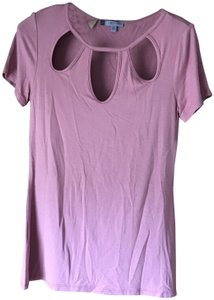Jennifer Lopez New With Tags Sleeves Rounded Neckline 3 Tear Drops Machine Washable T Shirt Dusty Rose