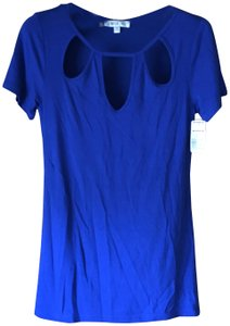 Jennifer Lopez New With Tags Sleeves Rounded Neckline 3 Tear Drops Machine Washable T Shirt Royal Blue