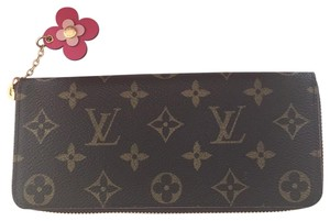 Louis Vuitton monogram limited edition clemence with flower bloom charm hot pink