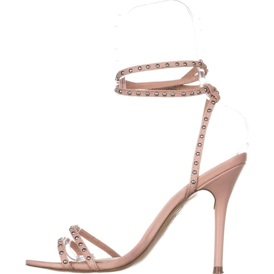 a182c549f1c Steve Madden Pink Wish Studded Ankle Strap Sandals 702 Blush Pumps ...
