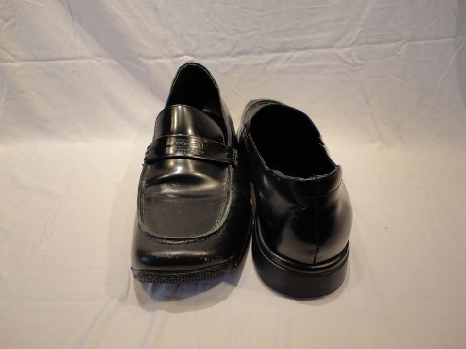 Coach Black Penny Women's Leather Loafer Flats Size US 7.5 ...