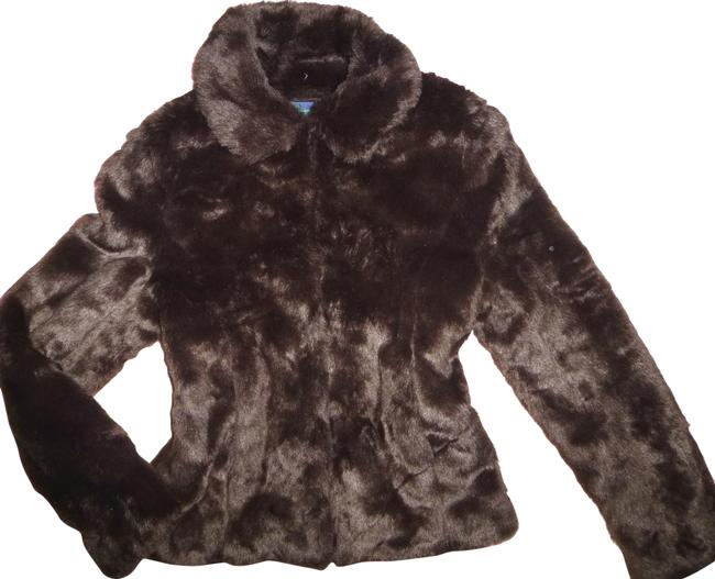 Item - Brown Chocolate Chic Faux Collared Jacket Coat Size 6 (S)