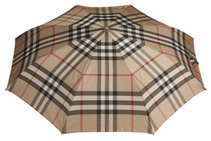 Burberry Burberry Camel Check Folding Umbrella