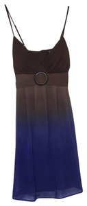 Roulette short dress Blue, brown on Tradesy