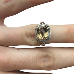 David Yurman Noblesse Ring Champagne Citrine with Diamonds