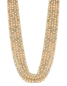 Chanel Chanel Vintage Multi-Strand Pearl & Crystal Necklace