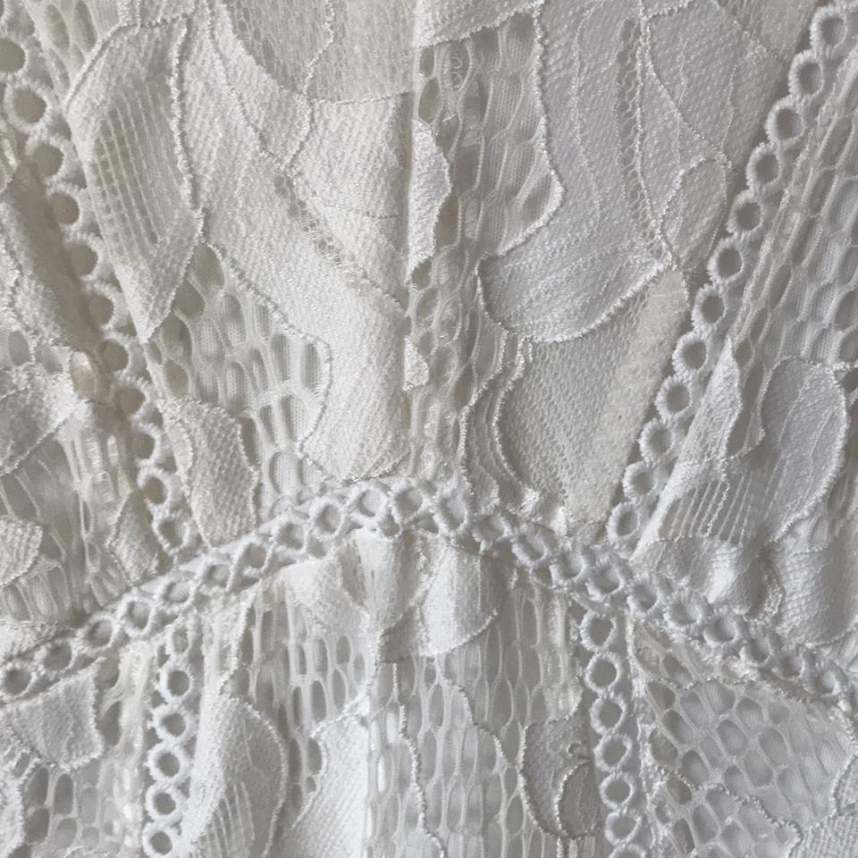 A pea in the pod white lace maternity mid length formal dress size a pea in the pod white lace maternity formal dress ombrellifo Images