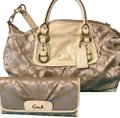 Coach Bag And Matching Wallet Satchel in cream