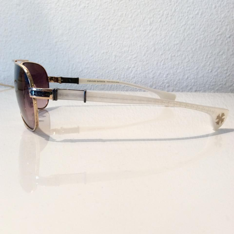 51494ec4f5d Chrome Hearts Brown Baby Beast Gold Frame White Arms Gothic Cross Sunglasses  - Tradesy