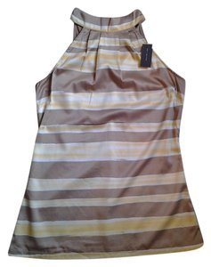 The Limited Yellow and Tan Halter Top