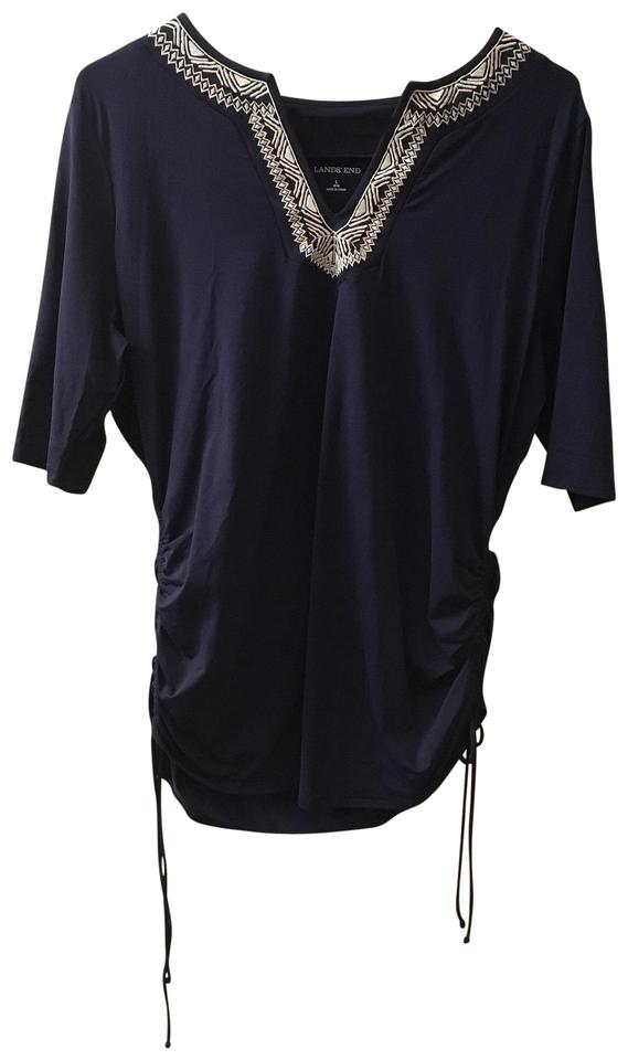 cff1511f37 Lands' End Navy Tunic Cover-up/Sarong Size 14 (L) - Tradesy