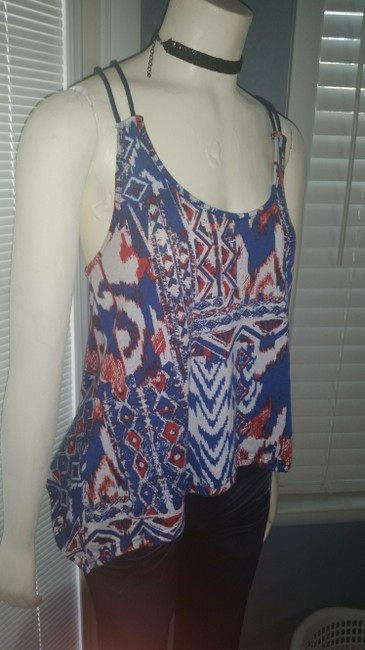 JULIE'S CLOSET Top RED, WHITE AND BLUE