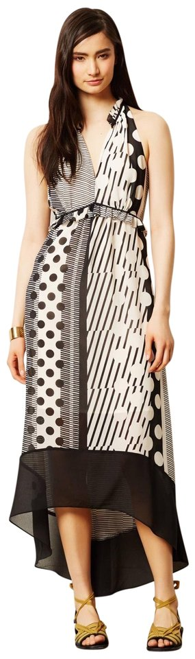 a0db56848a586 Anthropologie Black Cream Maeve & Stripes/Dot Long Casual Maxi Dress ...