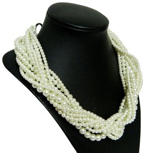 Givenchy Runway Couture Multi-Strand Glass Pearl Necklace