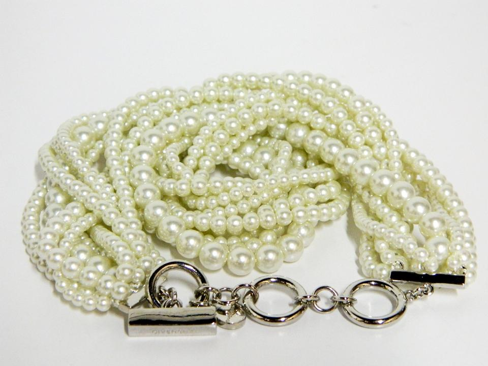 c1338a89f7883 Givenchy Ivory Runway Couture Multi-strand Glass Pearl Necklace 71% off  retail