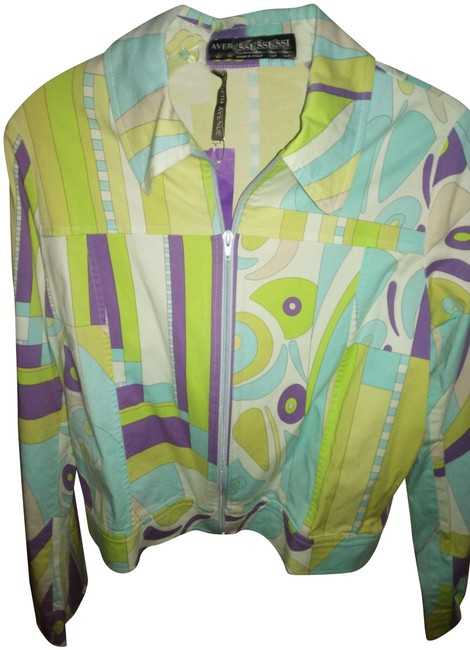 Item - Multiple Made In Italy Multicolor Jacket Size 6 (S)