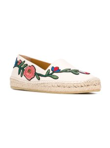 Gucci Pilar Loafers Espadrilles Floral Loafers Size 37 White Flats