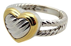 David Yurman David Yurman Heart Ring in Sterling Silver $ 18k gold, size 7