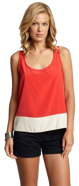 Anthropologie Color-blocking Willow Sleveeless Top RED MULTI