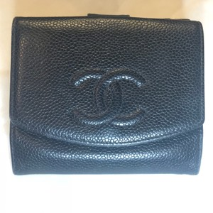6e3d8a9715ed43 Chanel Caviar Timeless Compact French Purse Wallet