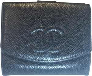 Chanel Caviar Timeless Compact French Purse Wallet