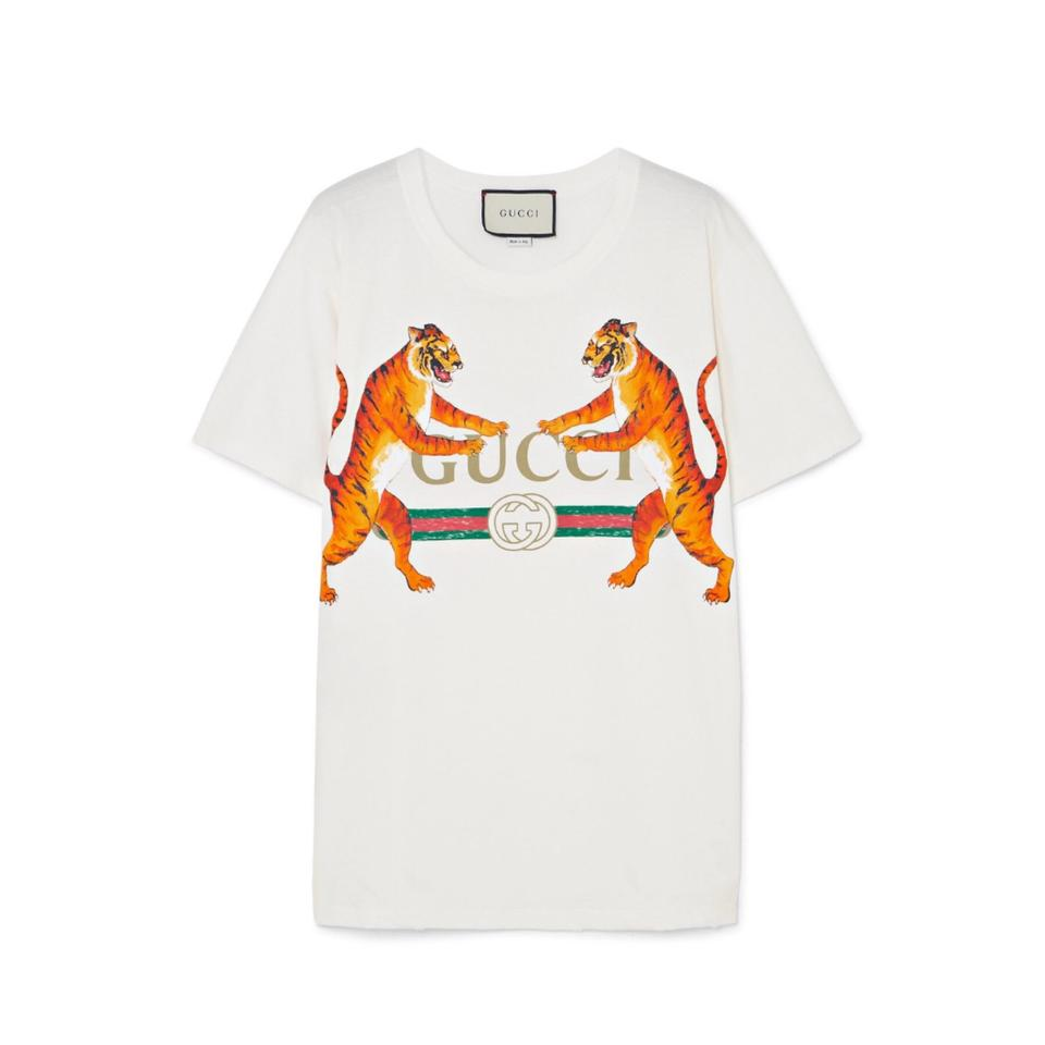 gucci with tiger t shirt tee shirt size 4 s tradesy. Black Bedroom Furniture Sets. Home Design Ideas