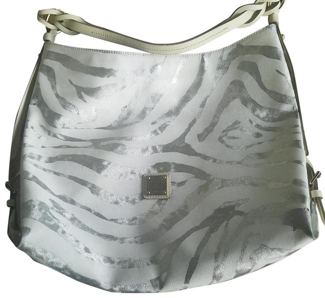 Item - J6325048 White/Silver Leather Tote