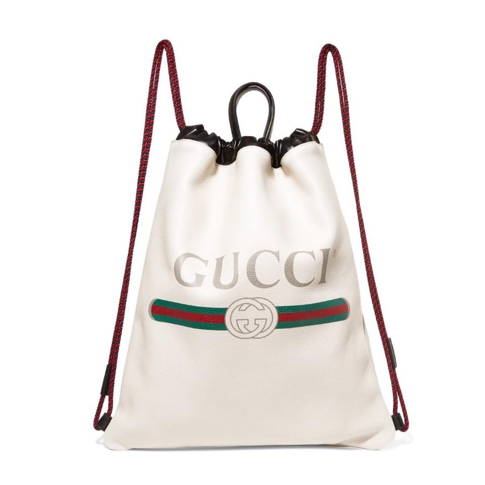 d7a29b0bd867 Gucci Drawstring Printed Leather Backpack - Tradesy