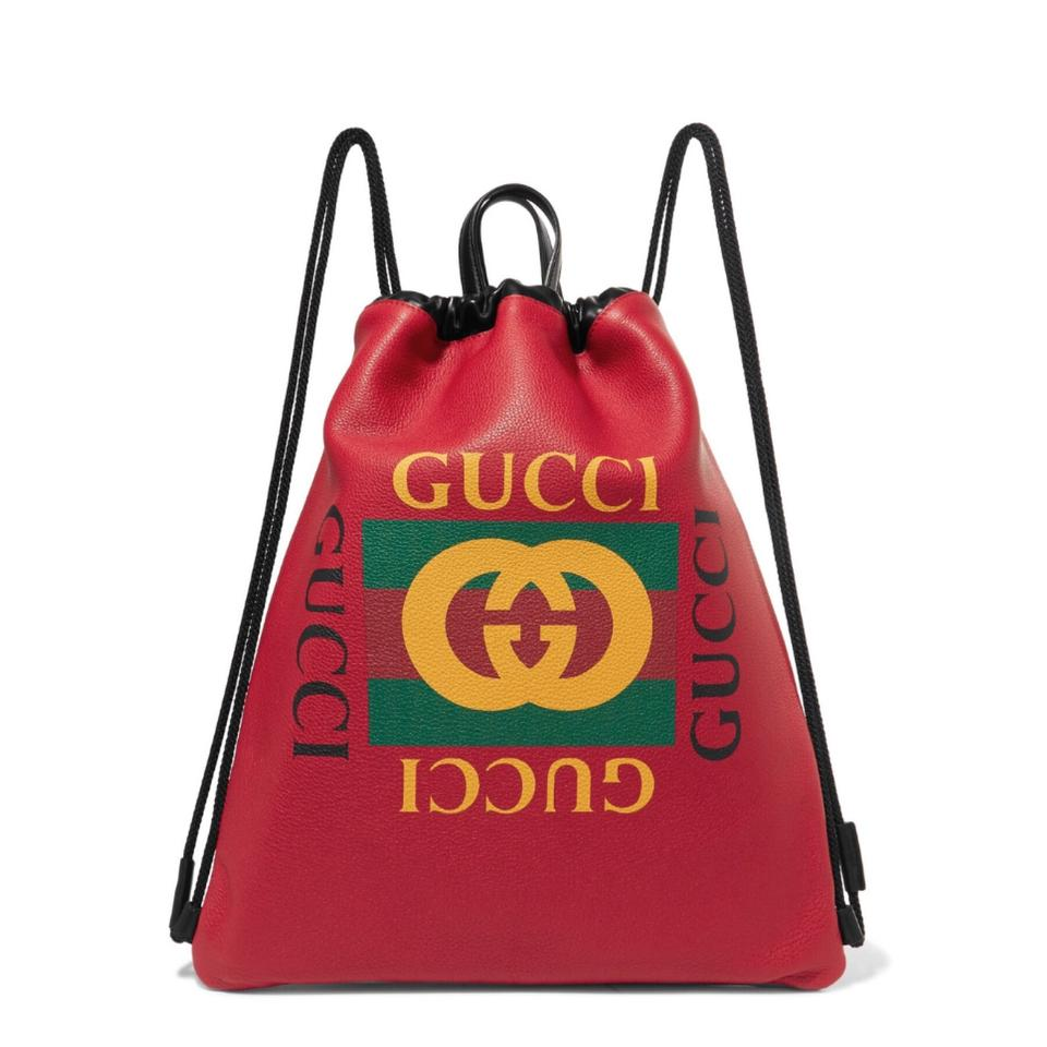 7c42cde3185c Gucci Drawstring Printed Leather Backpack - Tradesy