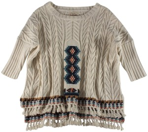 Chaser Fringe Cable Knit Sweater