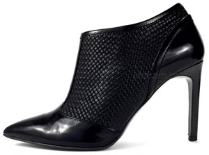 Boss by Hugo Boss Weaved Ankle Boot Date Night Night Out Leather Black Pumps